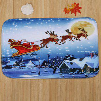 3Pcs Moon Christmas Sled Toilet Bath Rugs Set - CLOUDY