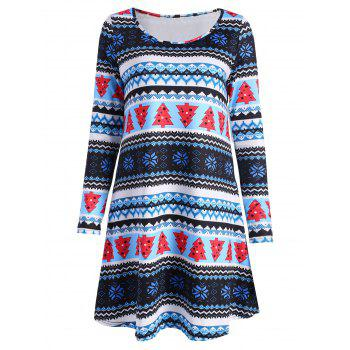 Blue Christmas Dress Cheap Casual Style Online Free Shipping at ...