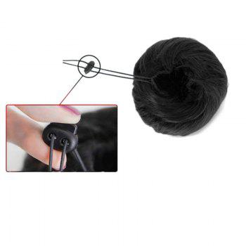 Short Chignons Hair Piece Synthetic Updo Bun Hair Extension -  BLACK