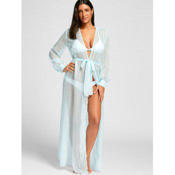 Flowy Maxi Cover Up Wrap Dress - S S