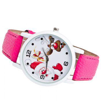 Christmas Santa Deer Pattern Quartz Watch - TUTTI FRUTTI