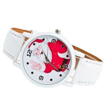 Christmas Santa Claus Face Number Watch - WHITE