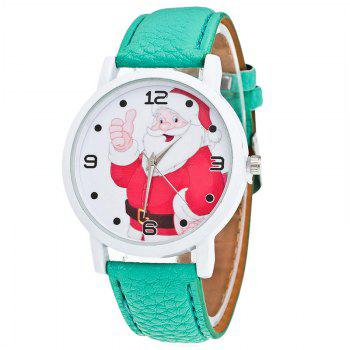 Christmas Santa Claus Face Number Watch - GREEN GREEN