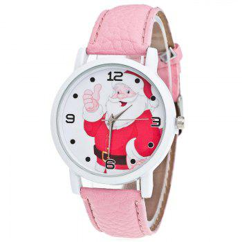 Christmas Santa Claus Face Number Watch - PINK PINK