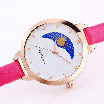 F Letter Faux Leather Analog Watch - TUTTI FRUTTI