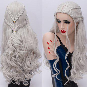 Perruque Cosplay Long Tresse Ondé Synthétique Game of Thrones Daenerys Targaryen