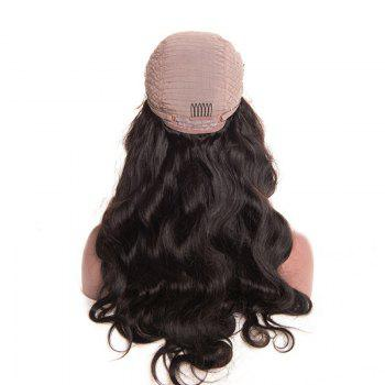 Free Part Fluffy Long Body Wave Lace Front Synthetic Wig - NATURAL BLACK