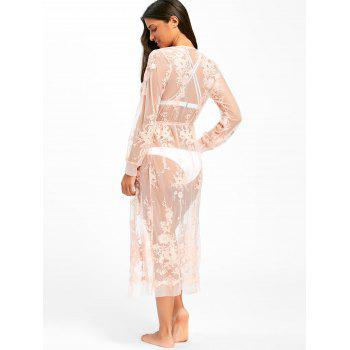 Lace Wrap Cover Up Dress - PINK PINK