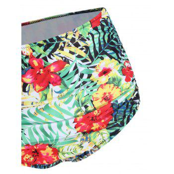 Plus Size Tropical Floral Bikini Set - COLORMIX XL