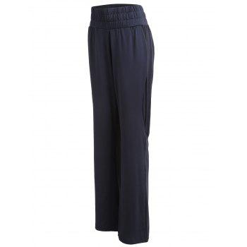 Wide Leg Gym Pants - BLACK L