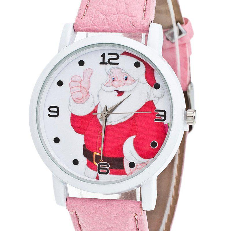 Christmas Santa Claus Face Number Watch - PINK