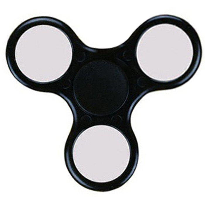 Fiddle Toy Plastic Fidget Spinner - BLACK