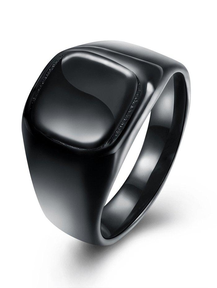 Vintage Alloy Geometric Finger Ring - BLACK 8