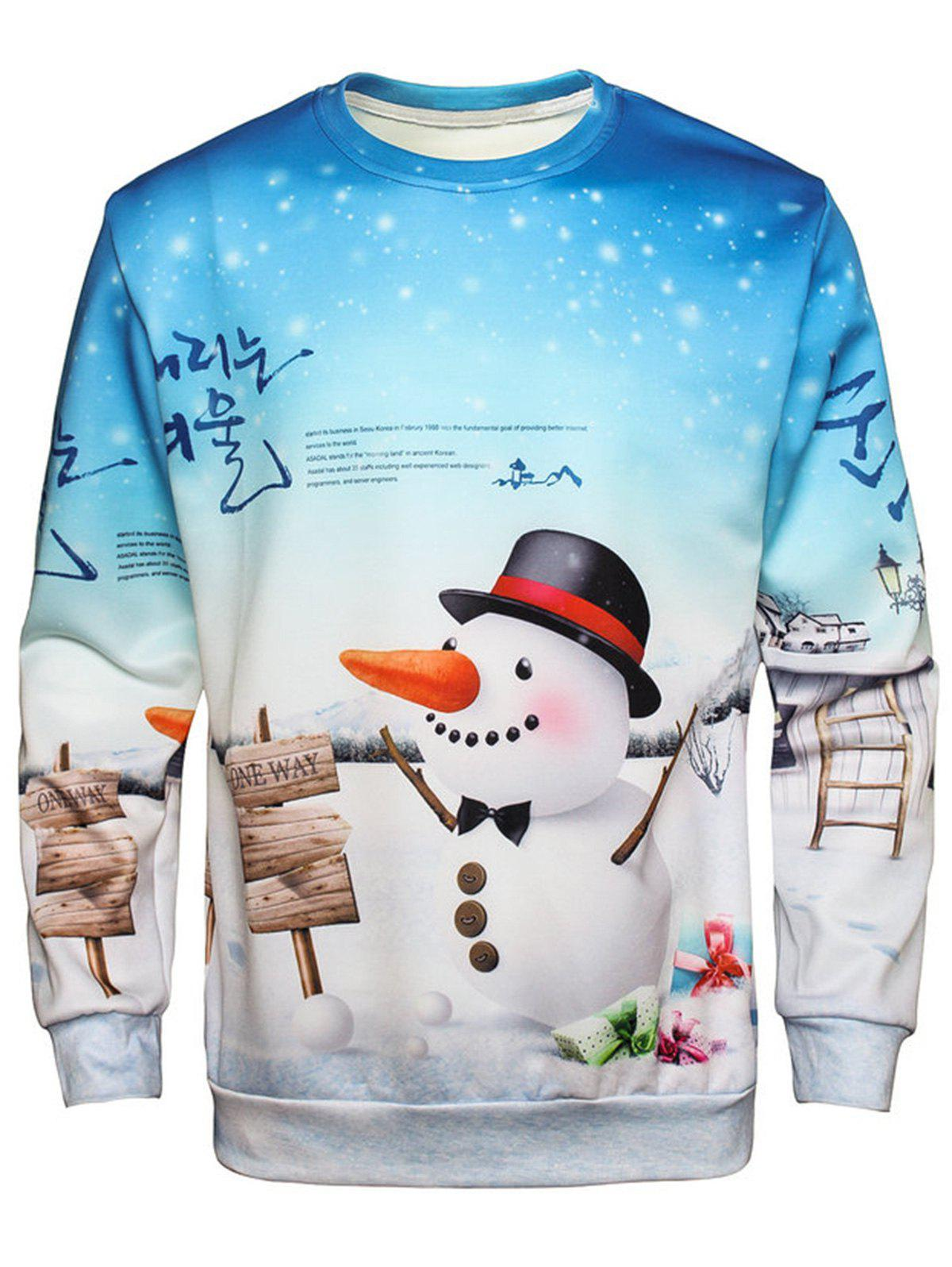 Christmas Snowman Pullover Sweatshirt manufacturing systems modelling