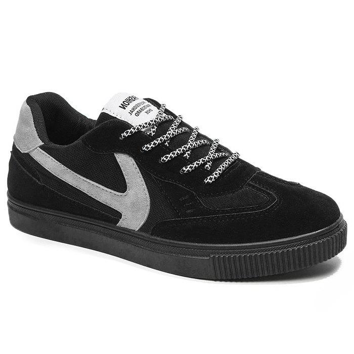Stitching Contrasting Color Skate Shoes - BLACK 40
