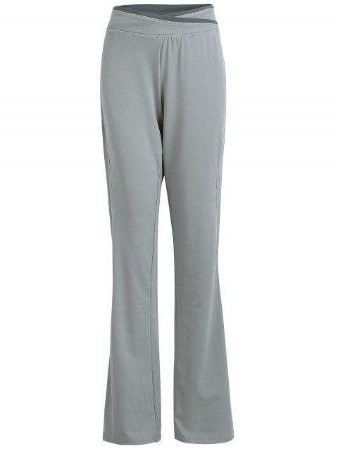 Wide Leg Cover Up Pants - GRAY M