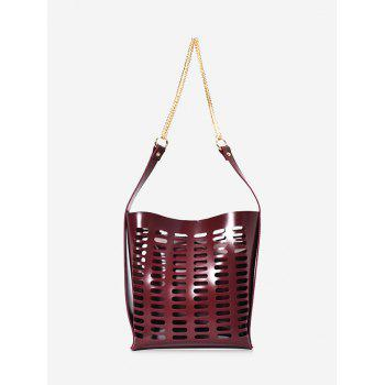 Hollow Out 2 Pieces Shoulder Bag Set - RED RED