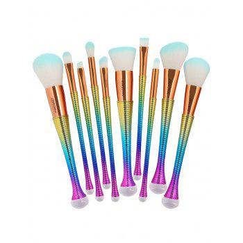 10 Pcs Ombre Color Multifunction Makeup Brushes Set -  GRADUAL BLUE