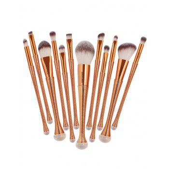 12 Pieces Gradient Color Multipurpose Makeup Brushes Set - ROSE GOLD