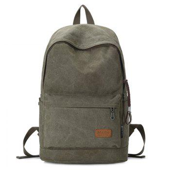 Stitching Solid Color Backpack - ARMY GREEN ARMY GREEN