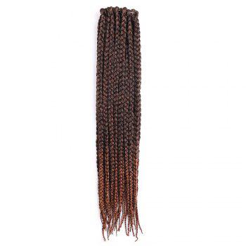 Three-strand Box Braids Long Synthetic Hair Weave - BROWN BROWN