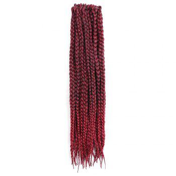 Three-strand Box Braids Long Synthetic Hair Weave - WINE RED WINE RED
