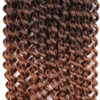 Long Synthetic Afro Kinky Braids Princess Curl Hair Weave -  DEEP BROWN