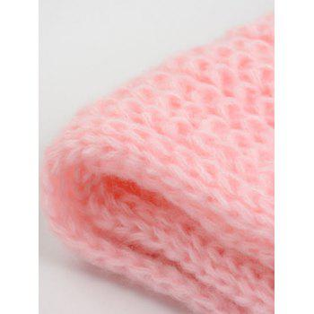 Outdoor Thick Knitted Chunky Scarf -  PINK
