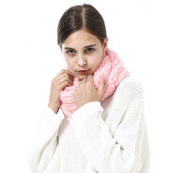 Outdoor Thick Knitted Chunky Scarf - PINK PINK