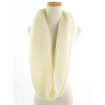 Outdoor Thick Knitted Chunky Scarf - OFF WHITE