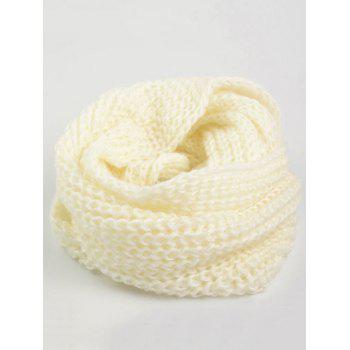 Outdoor Thick Knitted Chunky Scarf - OFF-WHITE OFF WHITE