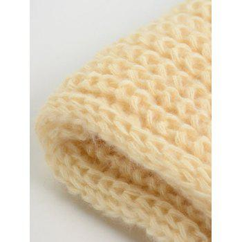 Outdoor Thick Knitted Chunky Scarf - PALOMINO