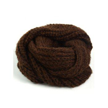 Outdoor Thick Knitted Chunky Scarf - MOCHA MOCHA