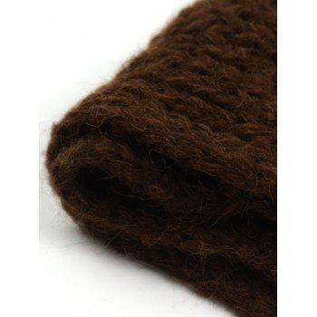 Outdoor Thick Knitted Chunky Scarf -  MOCHA
