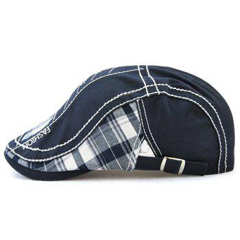 Outdoor Patchwork Embroidery Cabbie Cap - DEEP BLUE