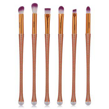 6Pcs Slim Handle Eyes Brush Suit - PURPLE PURPLE