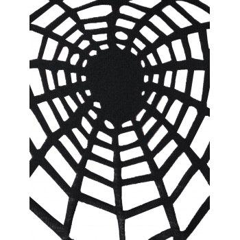 Halloween Plus Size Openwork Spider Tunic T-shirt - BLACK 3XL
