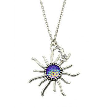 Sunflower Fish Scales Alloy Necklace - PURPLE PURPLE