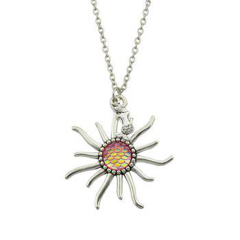 Sunflower Fish Scales Alloy Necklace - PINK PINK