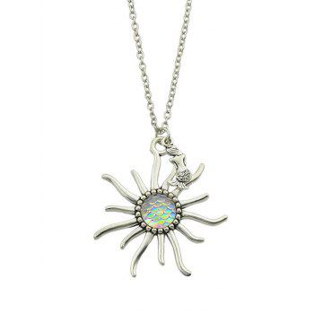 Sunflower Fish Scales Alloy Necklace - BEIGE BEIGE