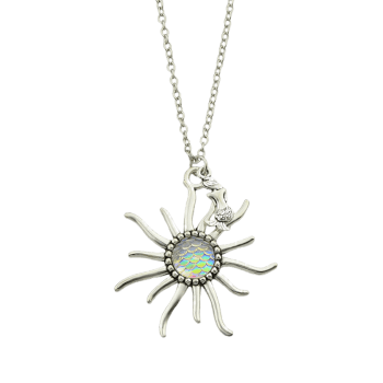 Sunflower Fish Scales Alloy Necklace -  BEIGE