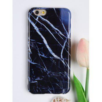 Marble Pattern Soft Cell Phone Case For Iphone - DEEP BLUE FOR IPHONE 6 / 6S
