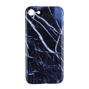 Marble Pattern Soft Cell Phone Case For Iphone - DEEP BLUE DEEP BLUE