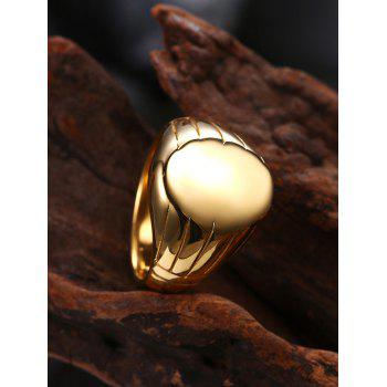 Oval Engraved Claw Pattern Finger Ring - GOLDEN 7