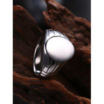 Oval Engraved Claw Pattern Finger Ring - 8 8