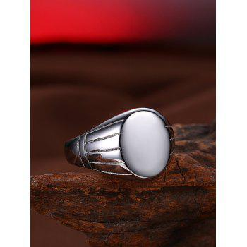 Oval Engraved Claw Pattern Finger Ring - 7 7