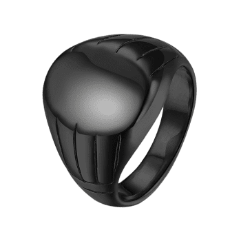 Oval Engraved Claw Pattern Finger Ring - BLACK 10