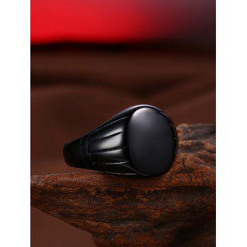 Oval Engraved Claw Pattern Finger Ring - BLACK 9