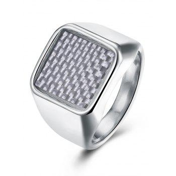 Antique Geometric Finger Ring - SILVER 8