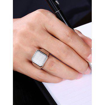 Antique Geometric Finger Ring - SILVER 7